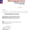 British immigration allowance