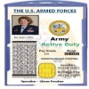 US armed forces ID card