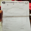 Travel company invoice