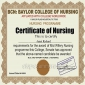 Certificate of nursing